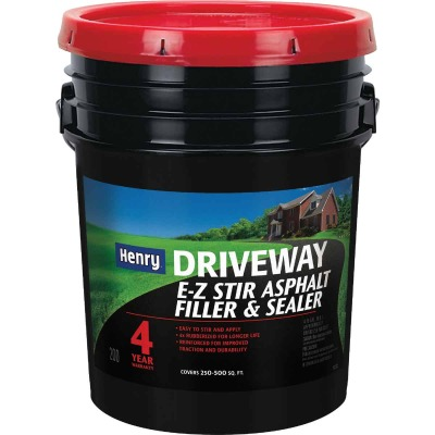Henry 4.75 Gal. Blacktop Driveway Filler and Sealer, 4 Year