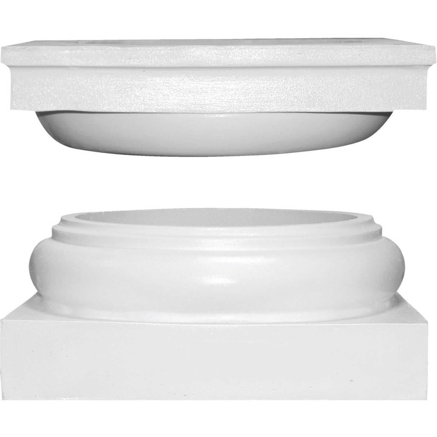 Crown Column Cap 11-15/16 In., Base 13-1/8 In. Unfinished Plastic Round Cap & Base Set Image 1