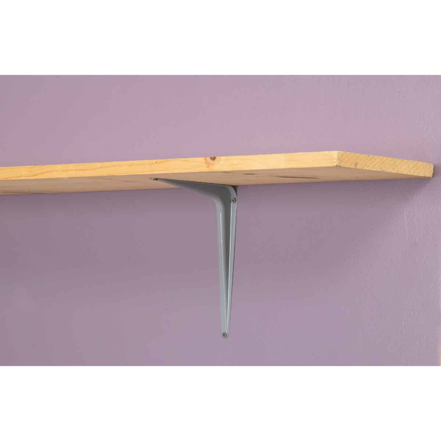 National 211 8 In. D. x 10 In. H. Gray Steel Shelf Bracket Image 2