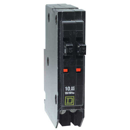 Square D QO 20A/20A Single-Pole Standard Trip Tandem Circuit Breaker