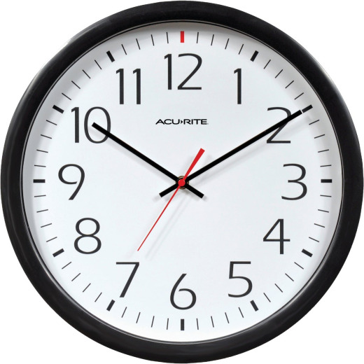 AcuRite Set & Forget Office Wall Clock