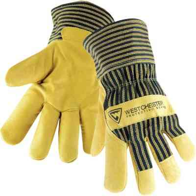 West Chester Protective Gear Men's XL Grain Pigskin Leather Work Glove