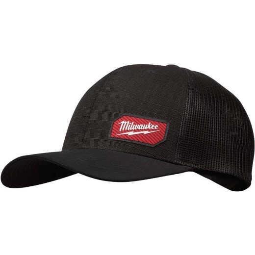 Milwaukee GridIron Snapback Black Trucker Hat