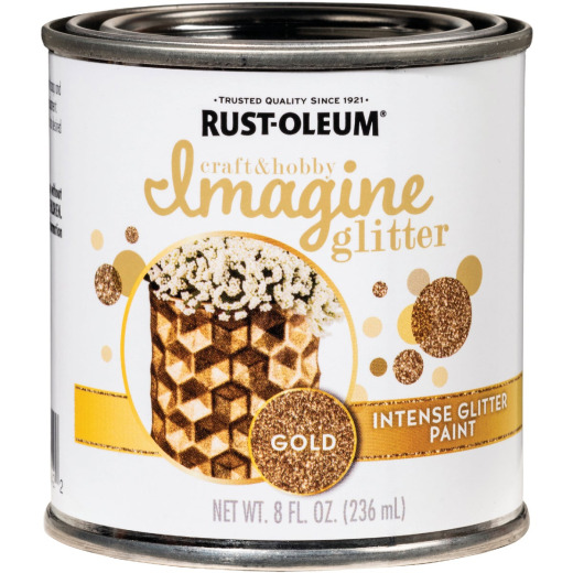Rust-Oleum Imagine Craft & Hobby 8 Oz. Intense Gold Glitter Paint